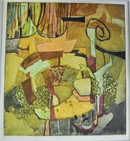 Grønt interiør, 2000,-