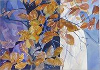 Høst i vinduet, 50x36 kr. 3.000,-